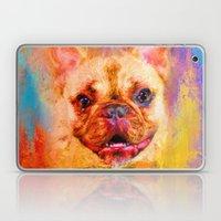 Jazzy French Bulldog Colorful Dog Art by Jai Johnson Laptop & iPad Skin