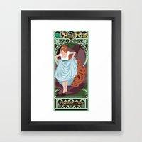 Thumbelina Nouveau - Thu… Framed Art Print