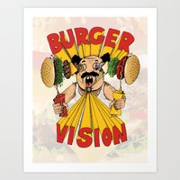 Burger Vision Art Print