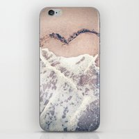 Heart In The Sand iPhone & iPod Skin