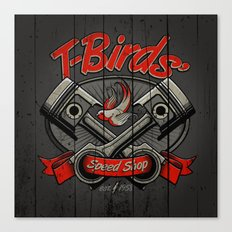 T-Birds Sign Canvas Print