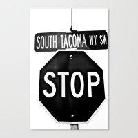 South Tacoma Stop Canvas Print