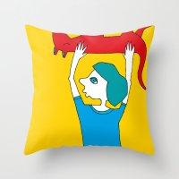 Dead Dog Throw Pillow