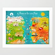 A Map of Ice and Fire Art Print