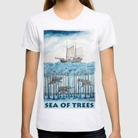 Sea of Trees Womens Fitted Tee Ash Grey SMALL