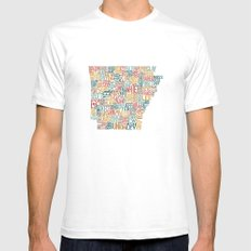 Arkansas by County Mens Fitted Tee White SMALL