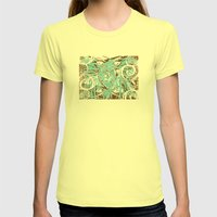 Look of Hearts Womens Fitted Tee Lemon SMALL