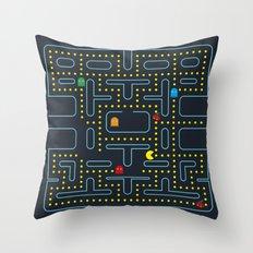 Pacman Throw Pillow