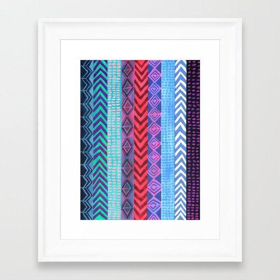 PATTERN {Peru Stripe} Framed Art Print