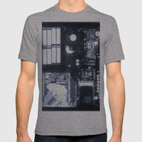 X Ray of a Laptop Computer Electronics X-Ray Mens Fitted Tee Athletic Grey SMALL