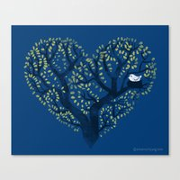 Home Is Where The Nest I… Canvas Print
