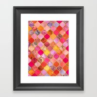 Hot Pink, Gold, Tangerin… Framed Art Print