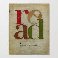 read love Canvas Print