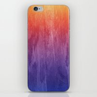 Purple, Pink, Orange Watercolor Gradient iPhone & iPod Skin
