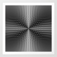 Circular Pinch in Monochrome Art Print