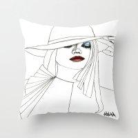 Blue Eyeshadow Throw Pillow