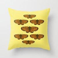 Butterfly Print Throw Pillow