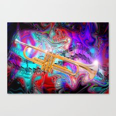 Psychedelic Trumpet Canvas Print