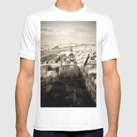 Shadow Over Paris Mens Fitted Tee White SMALL
