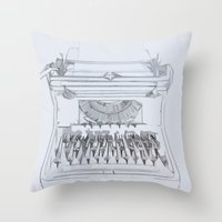 Typed Out Throw Pillow
