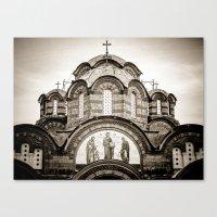 Monastery Katholikon In … Canvas Print