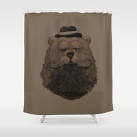 Grizzly Beard Shower Curtain