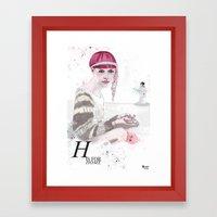 H is For Home Framed Art Print