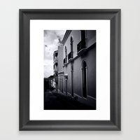 Dark Day In San Juan Framed Art Print