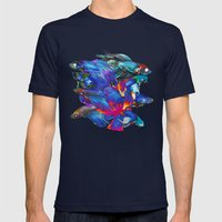 Fighting Fishes Betta Splendens Mens Fitted Tee Navy SMALL