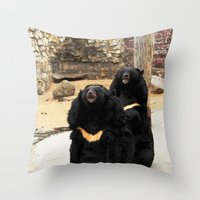 Russian Bears... Throw Pillow
