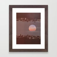 Sunset City Framed Art Print