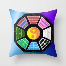 Painted Bagua Throw Pillow