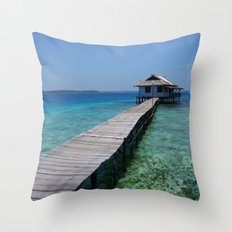 Secret house Throw Pillow