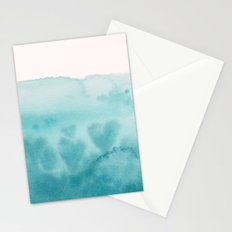 Waves of Love Aqua Stationery Cards