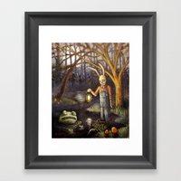 Swamp Bunny Framed Art Print