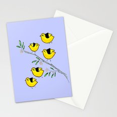 5 lil'yellow birds Stationery Cards
