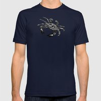Blue Crab  Mens Fitted Tee Navy SMALL