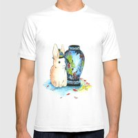 Lapin Chinoiserie Mens Fitted Tee White SMALL