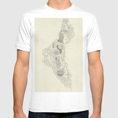 The Fertile Land in One's Imagination SMALL White Mens Fitted Tee