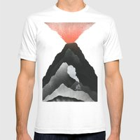 Man & Nature - The Vulca… Mens Fitted Tee White SMALL