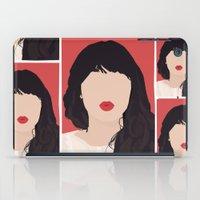 Zooey Deschanel Portrait iPad Case