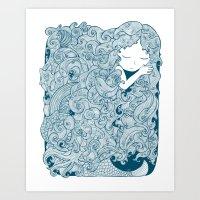 Mermaid Dreams Art Print