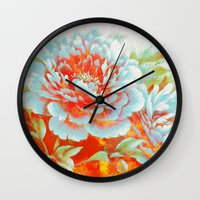 textured floral Wall Clock
