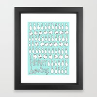 I Heart Bowling  Framed Art Print