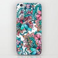 Boho Turquoise Pink Flor… iPhone & iPod Skin