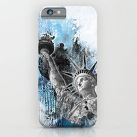 iPhone & iPod Case featuring Lady Liberty by DesignLawrence