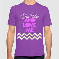 SHUT UP AND LOVE ME © -… Mens Fitted Tee Ultraviolet SMALL