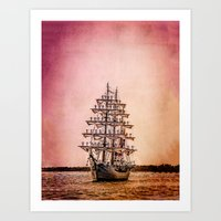 Tall ship Gloria Art Print