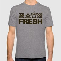 FRESH Mens Fitted Tee Tri-Grey SMALL