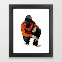 Waiting For (Inevitable) Trouble Framed Art Print